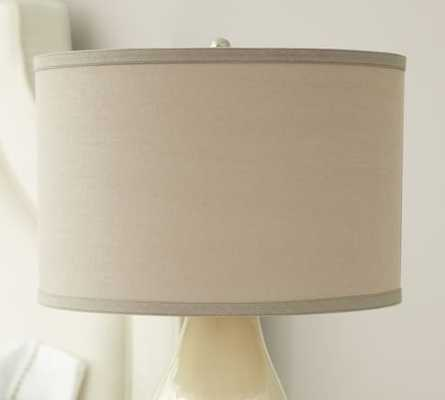 STRAIGHT-SIDED LINEN DRUM LAMP SHADE - White - Pottery Barn