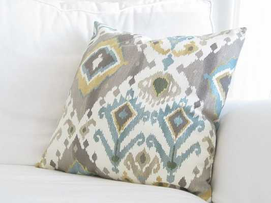 "Ikat Couch Pillows-16""x16""-Multi-No  insert - Etsy"