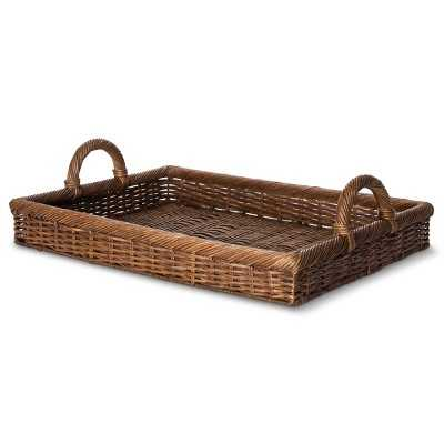 "Smith & Hawkenâ""¢ Tray Decorative Basket - Dark Brown - Target"