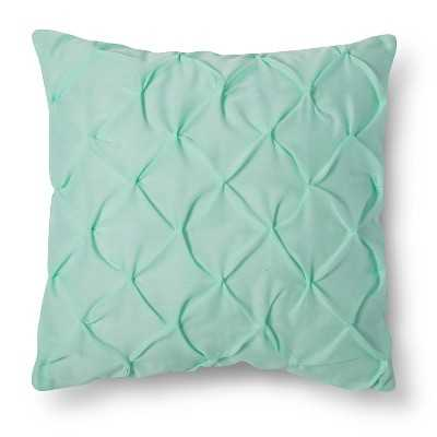 "Xhilarationâ""¢ Decorative Pillow Turquoise Twist & Tuck - Target"