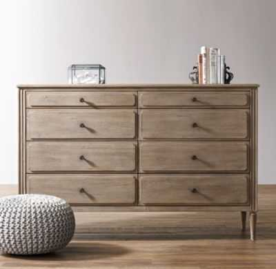 marcelle wide dresser - antique grey - RH Baby & Child