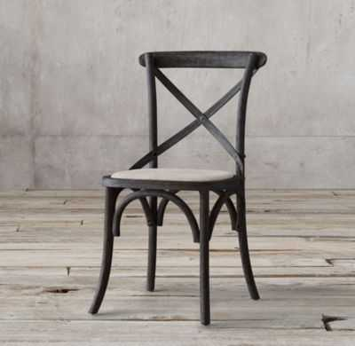 CHAIR Madeleine Fabric Side Chair -Black Oak Drifted - RH