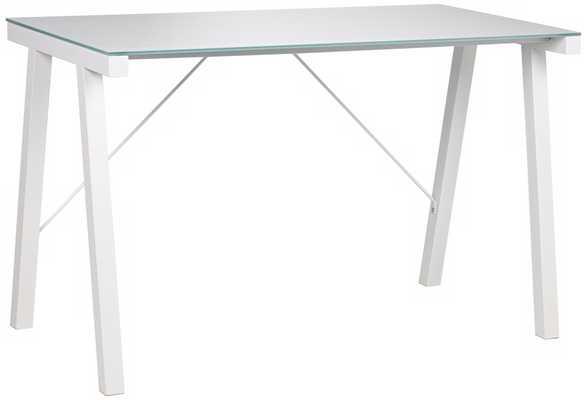 Rand Contemporary White Desk - Lamps Plus