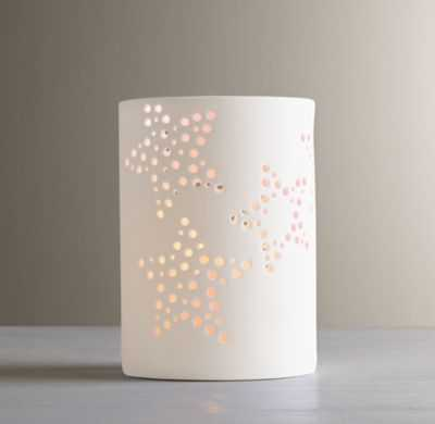 perforated star porcelain nightlight - RH Baby & Child