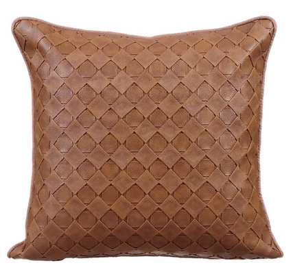 """Decorative Throw Pillow Covers Leather -16""""x16-Brown-No Insert - Etsy"""