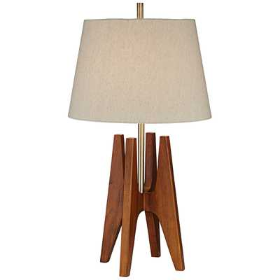 """PCL Quatro Zona 32"""" H Table Lamp with Empire Shade - Wayfair"""