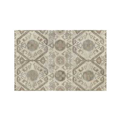 Orissa Neutral Wool Rug - Crate and Barrel