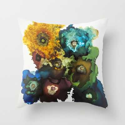 """""""The Bouquet""""- 18x18- Multi-Colored- Faux down pillow insert - Society6"""