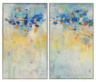 """Meeting Place Diptych - 32"""" x 19"""" - Framed - One Kings Lane"""