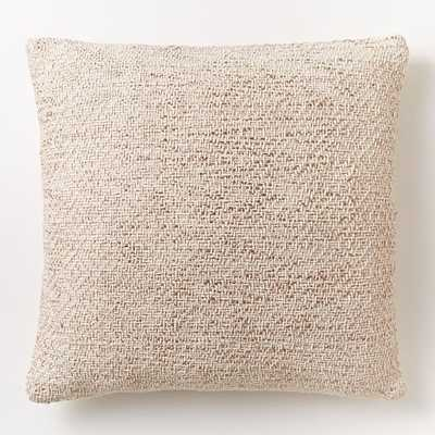 Woven Metallic Pillow Cover - Rose Gold - 18x18, Insert Sold Separately - West Elm