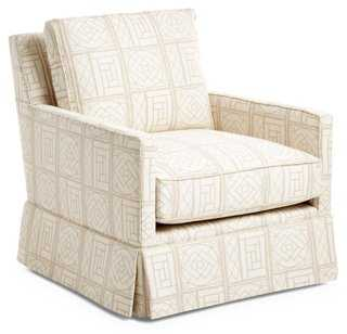 Avon Skirted Club Chair - One Kings Lane