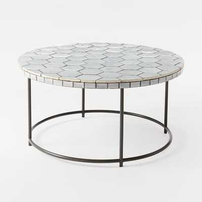 Mosaic Tiled Coffee Table - Charcoal base - West Elm