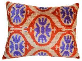Ferah Silk Velvet Pillow - One Kings Lane