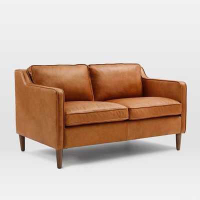 "Hamilton Leather Sofa- 56"" - West Elm"