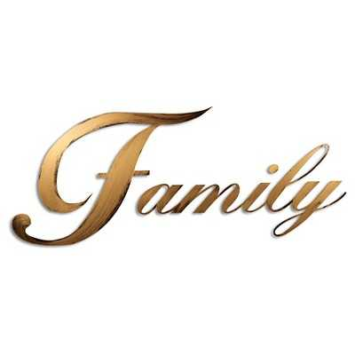 Letter2Word Hand Painted Family 3D Wall Sculpture - Gold - Target