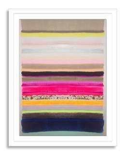 "Kristi Kohut, Stripes 35- 19""x 24""- Framed - One Kings Lane"
