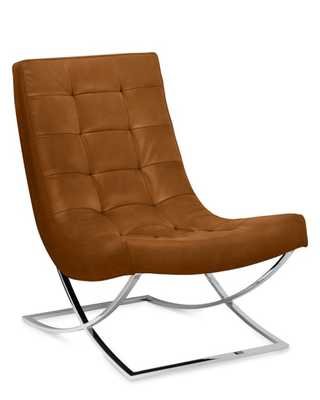 James Nickel Leather Chair - Williams Sonoma Home