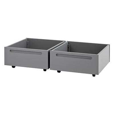 Set of 2 Adjustable Activity Table Bins (Grey) - Land of Nod