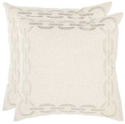 "CHAINLINK PILLOW - 18""x18""-Insert included - Home Decorators"