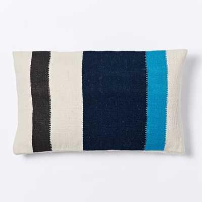 "Steven Alan Colorblock Stripe Pillow Cover - Lagoon - 12""w x 21""l - no insert - West Elm"
