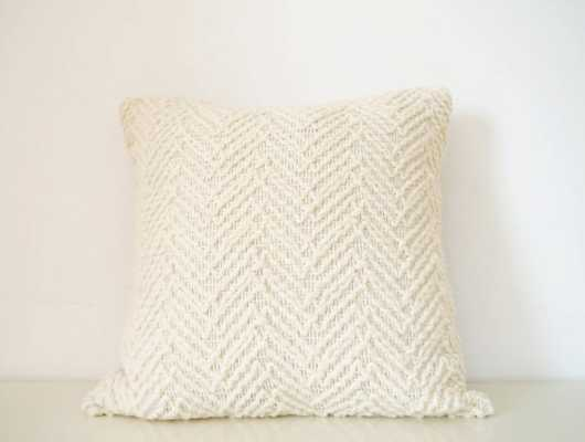 Decorative cream/ivory pillow -18 x 18 - Insert Sold Separately - Etsy