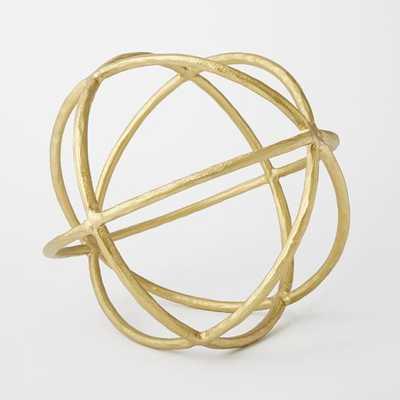 Sculptural Spheres - Large, Gold - West Elm