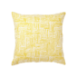 "Hatch Pillow in Mustard - 20""sq. - Down/Feather Insert - Domino"