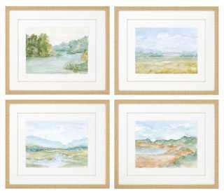 Cotswald Watercolors, Set of 4 - One Kings Lane