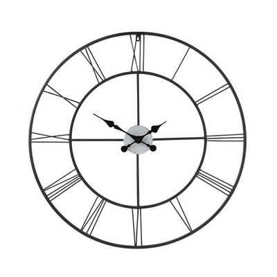 Upton Home Hartley Black Wall Clock - Overstock