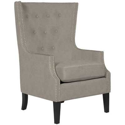 Melanie Parisian Sandy Beige High Back Chair - Overstock