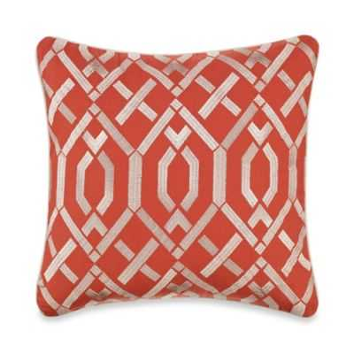 "Palma Sola Lattice Square Throw Pillow-16""Sq, Polyster Insert - Bed Bath & Beyond"