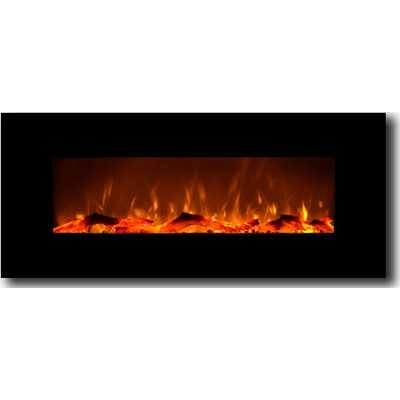 Electric Wall Mounted Fireplace - Onyx - Wayfair