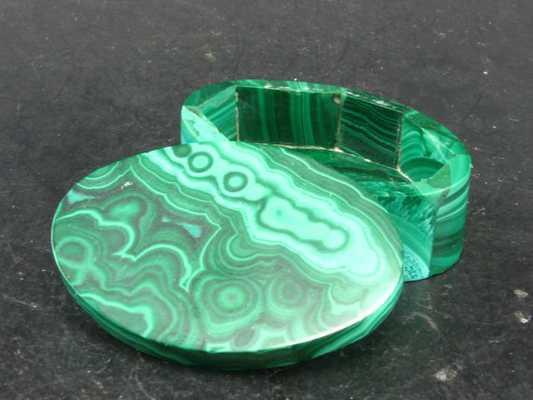 """Beautiful Malachite Jewellery Box From Congo - 1.8"""" - Etsy"""