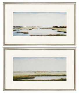 Marshlands I Diptych - 18x30 - Framed - One Kings Lane