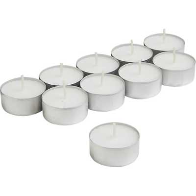 aluminum-cupped tealight candles - CB2