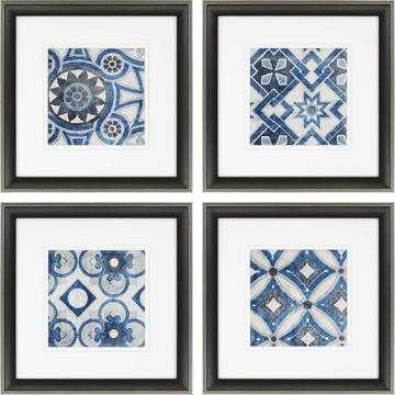 PERSIAN JEWELS FRAMED WALL ART - SET OF 4 - 23x23 - Framed - Home Decorators