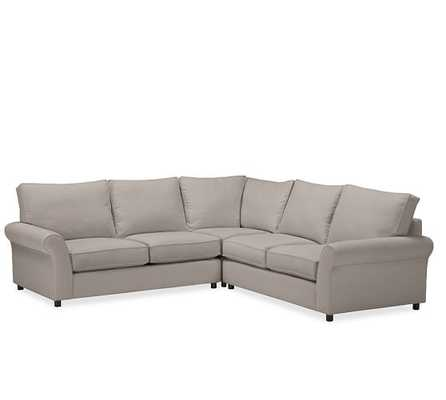 PB Comfort Upholstered 3-Piece L-Shaped Sectional - Pottery Barn