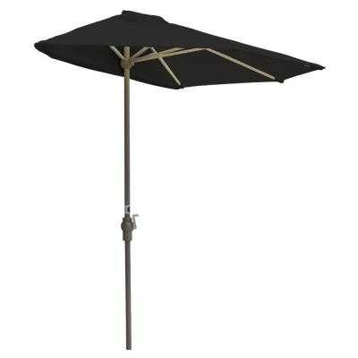 Off-The-Wall Brella 7.5 ft. Patio Half Umbrella in Black Sunbrella - Home Depot