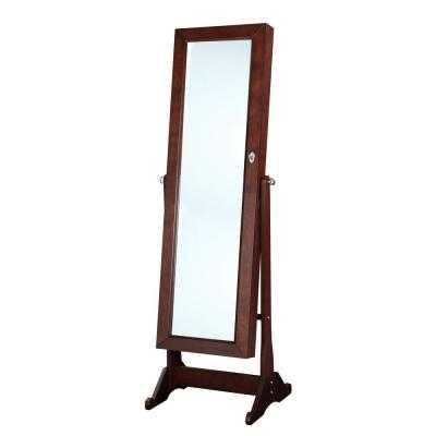 Ruby 60.24 in. x 19.69 in. Cheval Cherry Framed Mirror - Home Depot