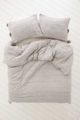 Plum & Bow Alia King Duvet Cover - Dark Grey - Urban Outfitters
