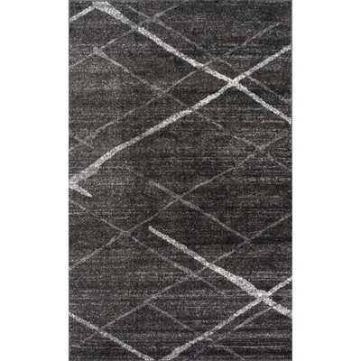 NuLOOM Contemporary Striped Dark Grey Rug - Overstock