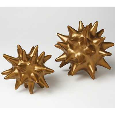 Urchin Antique Gold - small - High Fashion Home