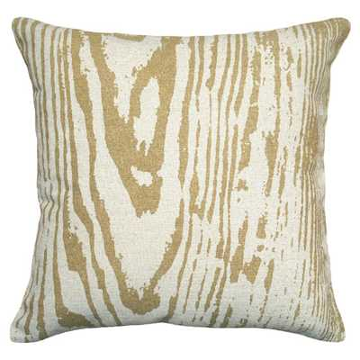 Graphic Faux Bois Linen Throw Pillow - 18sq. - Polyester/Polyfill - AllModern