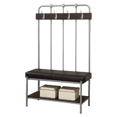 Monarch Specialties Metal Entry Bench with Coat Rack - Target