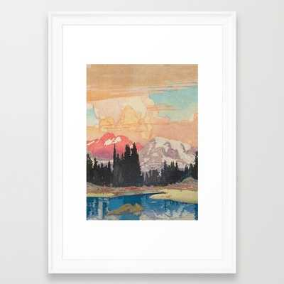 "Storms over Keiisino - FRAMED ART PRINT/SCOOP WHITE SMALL (15"" X 21"") - Society6"