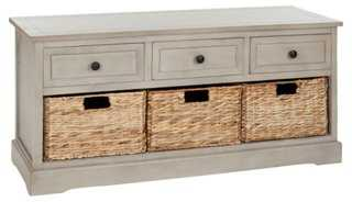 Arlington 3-Drawer Storage Bench - One Kings Lane