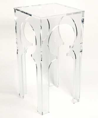 Acrylic Moroccan Side Table - Bliss Home and Design