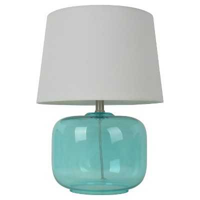 "Glass Table Lamp - Pillowfortâ""¢-Aqua - Target"