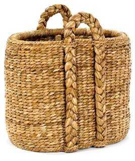 Oval Sweater-Weave Hearth Basket - One Kings Lane