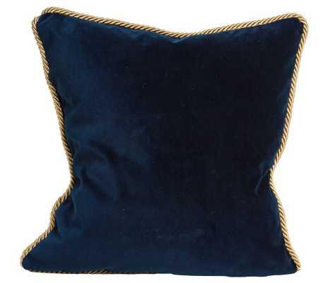 Colorblock Velvet Pillow Deep Teal & Navy - Society Social